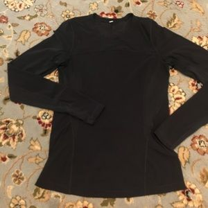 Lululemon black long sleeve, size 4